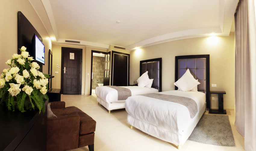 Chambre hotel tempoo city Marrakech